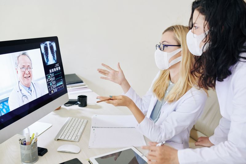 video conference meeting among doctors